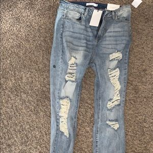 Brand New Size 18 Charlotte Russe Distressed Jeans